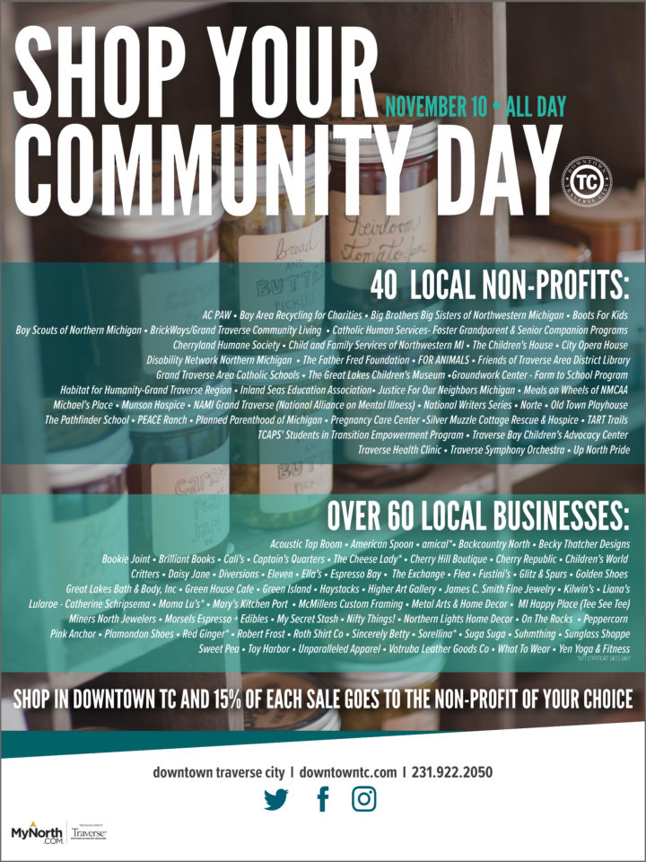 Shop Your Community Day – November 10, 2018